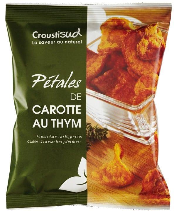 Gulerods chips med timian, 70g - Økotaste - Økologiske specialiteter