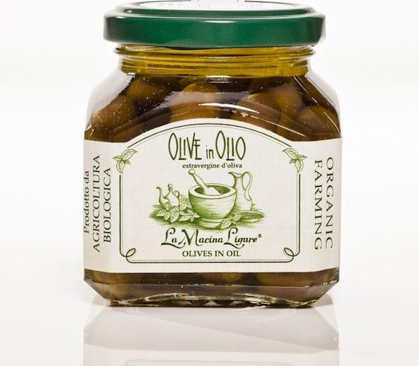 Italienske sorte oliven i olivenolie m/sten, 180g - Økotaste - Økologiske specialiteter