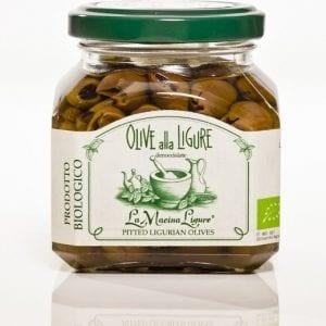 Italienske sorte oliven i olivenolie u/sten, 180g - Økotaste - Økologiske specialiteter