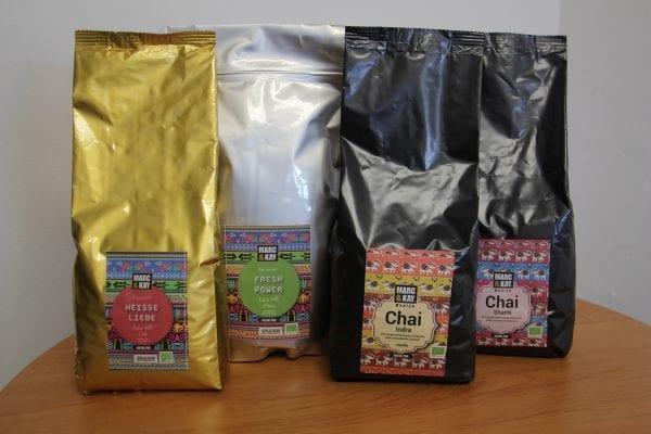 Chai Latte og Kakaodrik Gastro 750g - Økotaste - Økologiske specialiteter