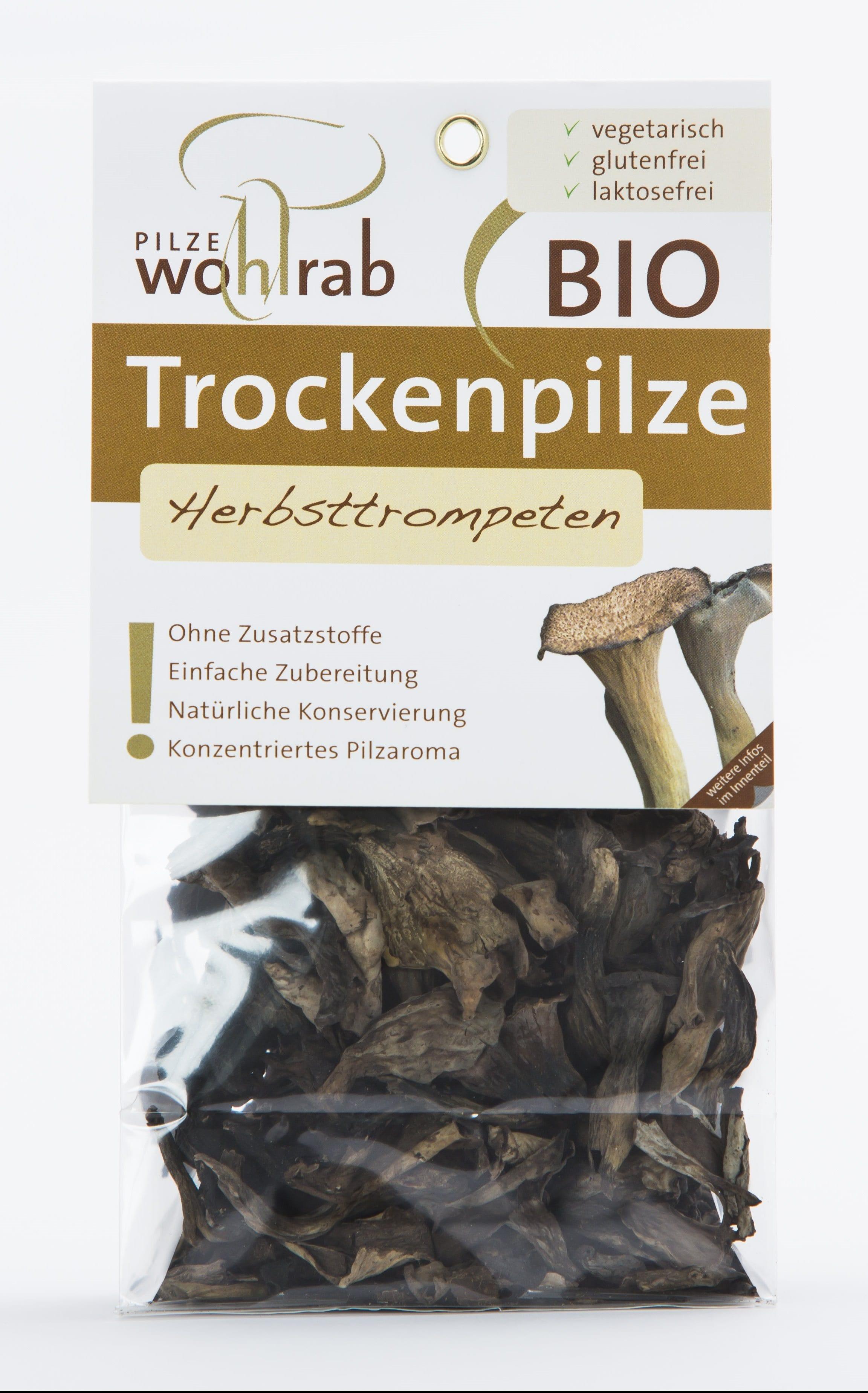 Kantarel sort tørret 20g - Økotaste - Økologiske specialiteter