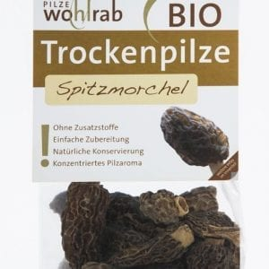 Spidsmorkler tørret 15g - Økotaste - Økologiske specialiteter