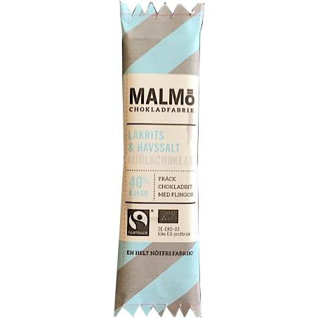 Chokoladebar, lys chokolade m. lakrids/havsalt 25g - ØkoTaste - Økologiske specialiteter