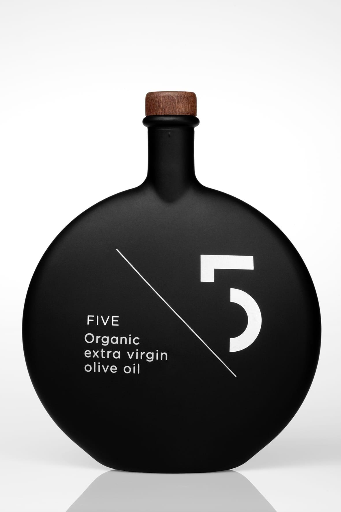 """""""5"""" FIVE extra jomfru olivenolie, 500 ml - ØkoTaste - Økologiske specialiteter"""