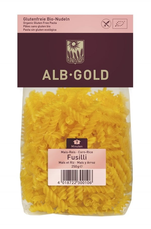 Alb-Gold fusilli majs - ØkoTaste - økologiske Specialiteter