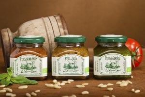 3 glas pesto, Di Nonna Nella, in Salsa og alla Genovese - ØkoTaste - Økologiske specialiteter