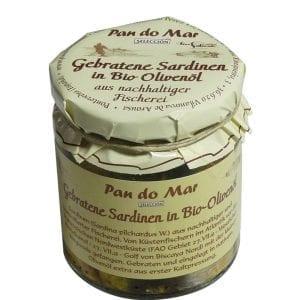 Pan do Mar Stegte sardiner i olivenolie 220g - ØkoTaste - Økologiske specialiteter