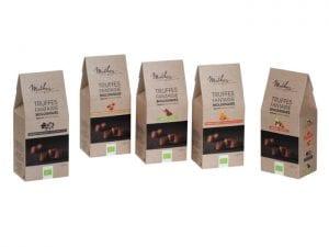 Trøffelchokolader 5 smagsvarianter - Økotaste - Økologiske specialiteter