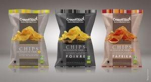 Croustisud 3 typer chips - Økotaste - Økologiske specialiteter