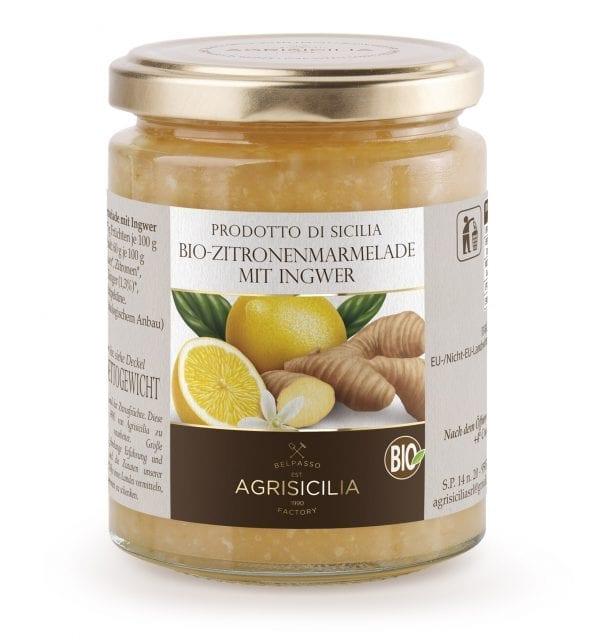 Økologisk marmelade og syltetøj fra Sicilien - Økologisk citronmarmelade med ingefær - ØkoTaste