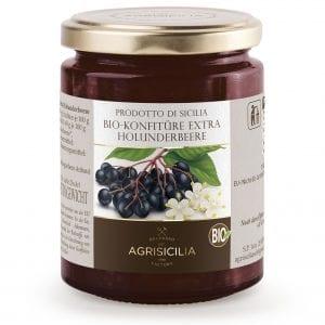 Økologisk marmelade og syltetøj fra Sicilien - Økologisk hyldebærsyltetøj (80% bær) - Økotaste